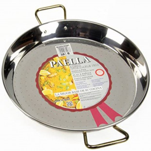PAELLA ACERO INOXIDABLE 38CM