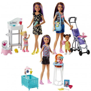 BARBIE BABYSITTER PLAYSET AST