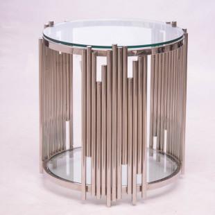MESA LATERAL REDONDA C/CLEAR  GLASS