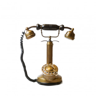 ADORNO TELEFONO BRONCE ANTIGUO
