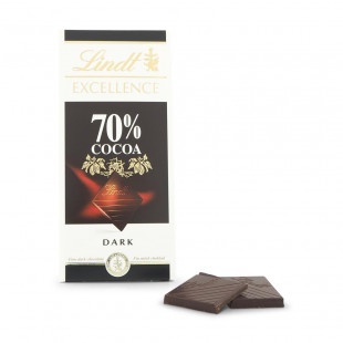 Chocolate Negro Lindt Excellence Tabla Amargo 70% Cacao 100