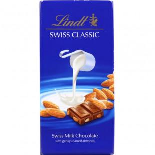 Chocolate con leche Lindt Swiss Tabla Leche Con Almendras 10