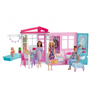 BARBIE NEW HOUSE W/DOLL