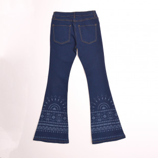 JEANS LUPE FEM FLARE CON BOTA A LASER 26